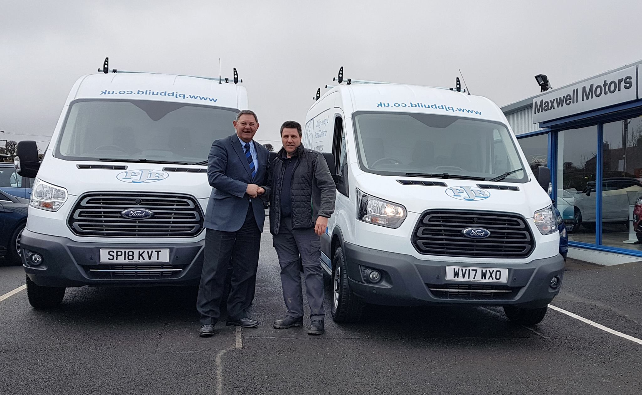 TWO VANS SUPPLIED TO LOCAL BUILDER...